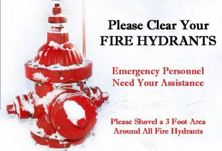 Help Firefighters, Clear Hydrants Of Snow