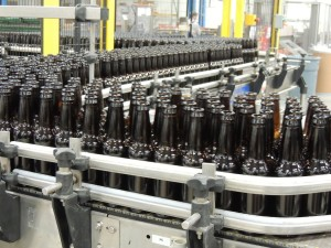 Victory Brewing's assembly line