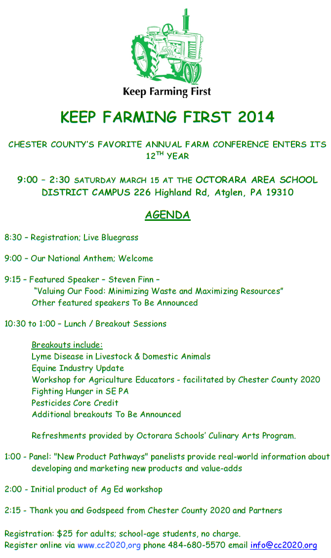 2.4.2014 Keep Farming First