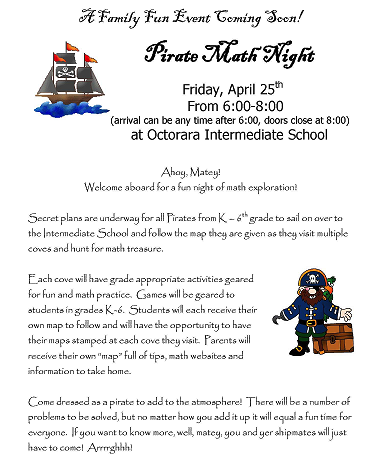 4.15.2014 Pirates Math Night