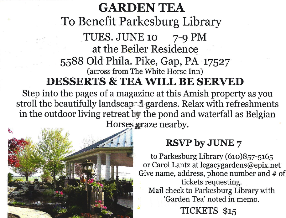 5.24.2014 Parkesburg Library Tea
